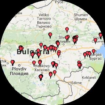 Карта на земеделските имоти, които продаваме