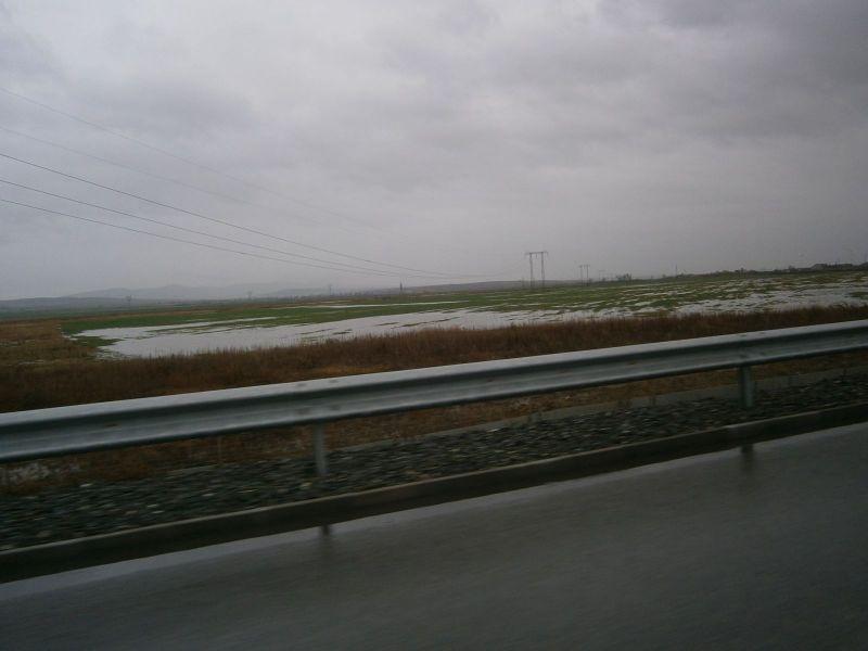 Наводнени ниви в землището на община Нова Загора