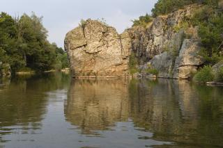 Село Гугутка, меандрите на Бяла река